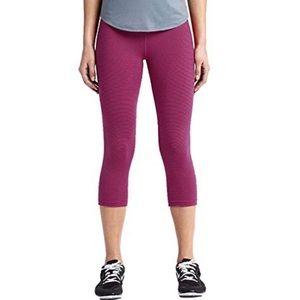Nike Pink & Black Stripe Fold Top Cropped Pants